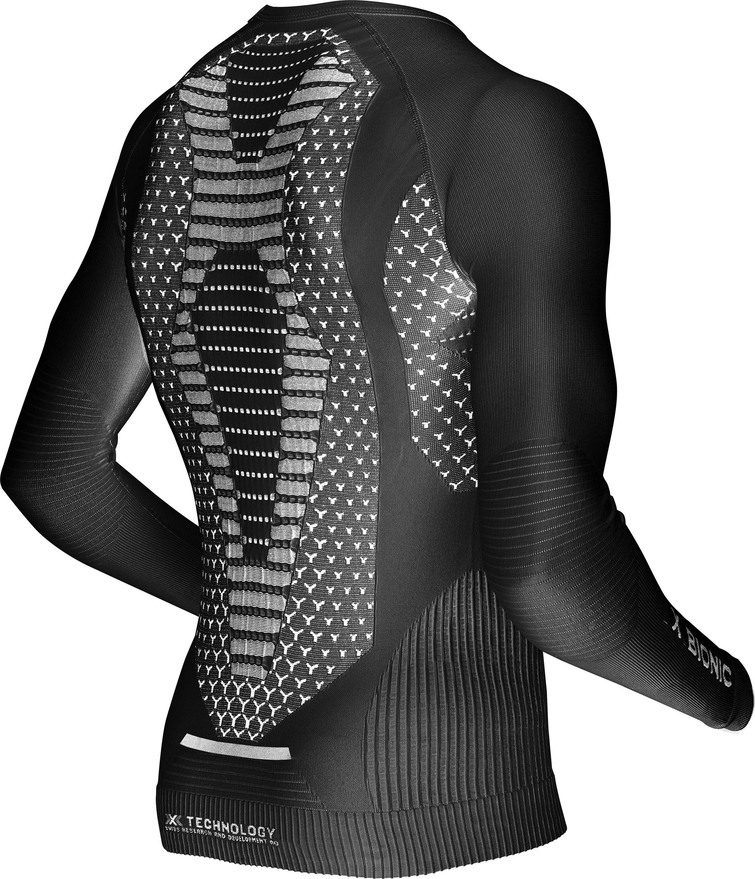 f5e72eabb71 X-Bionic Twyce - T-shirt manches longues running Homme - noir sur ...